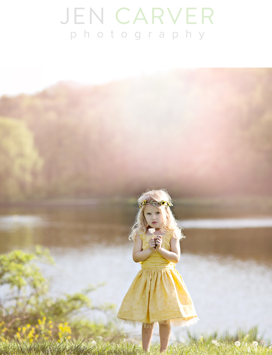ella 1 Dandelions and Willow Trees | Pittsburgh Child Photographer