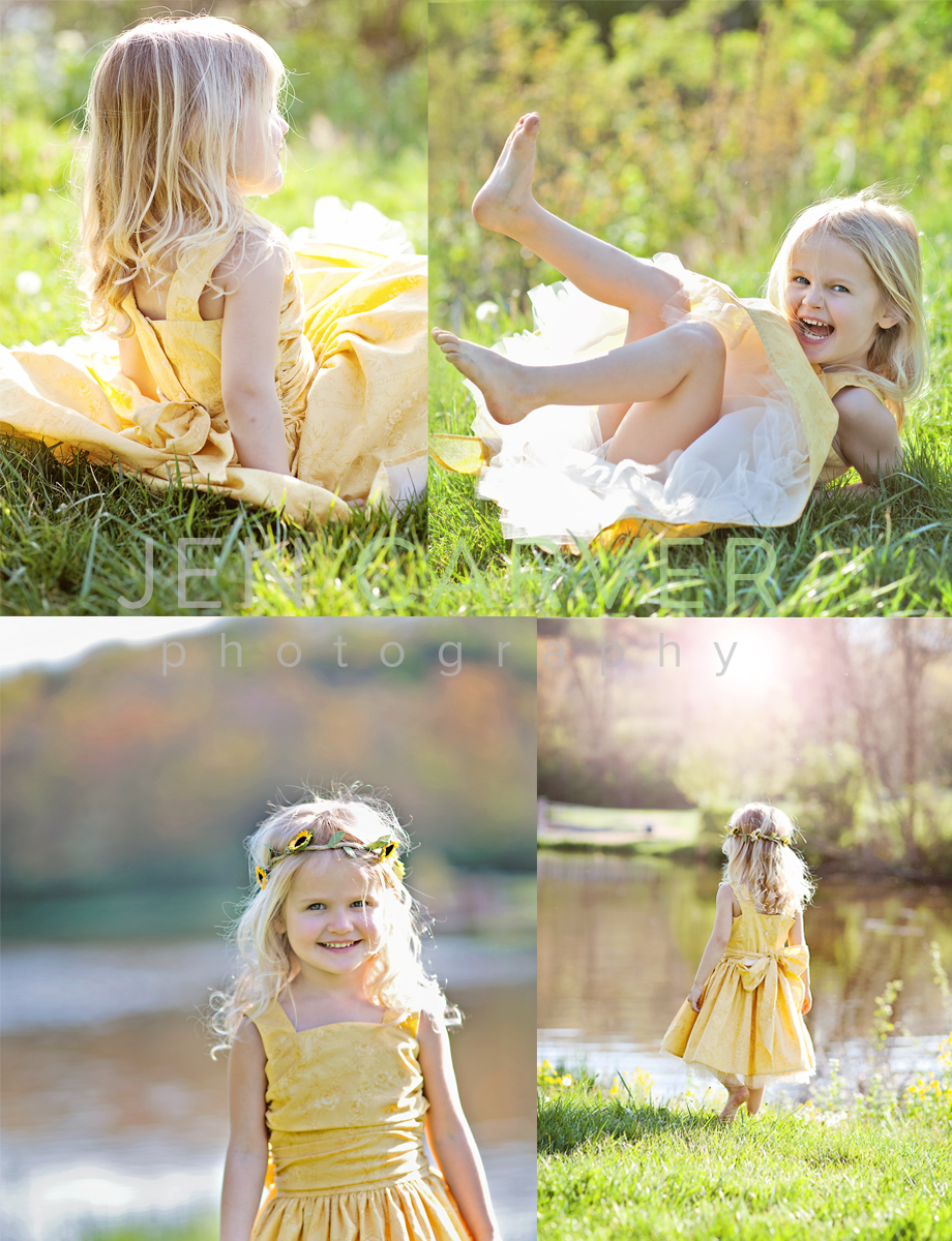 ella12 4 Dandelions and Willow Trees | Pittsburgh Child Photographer