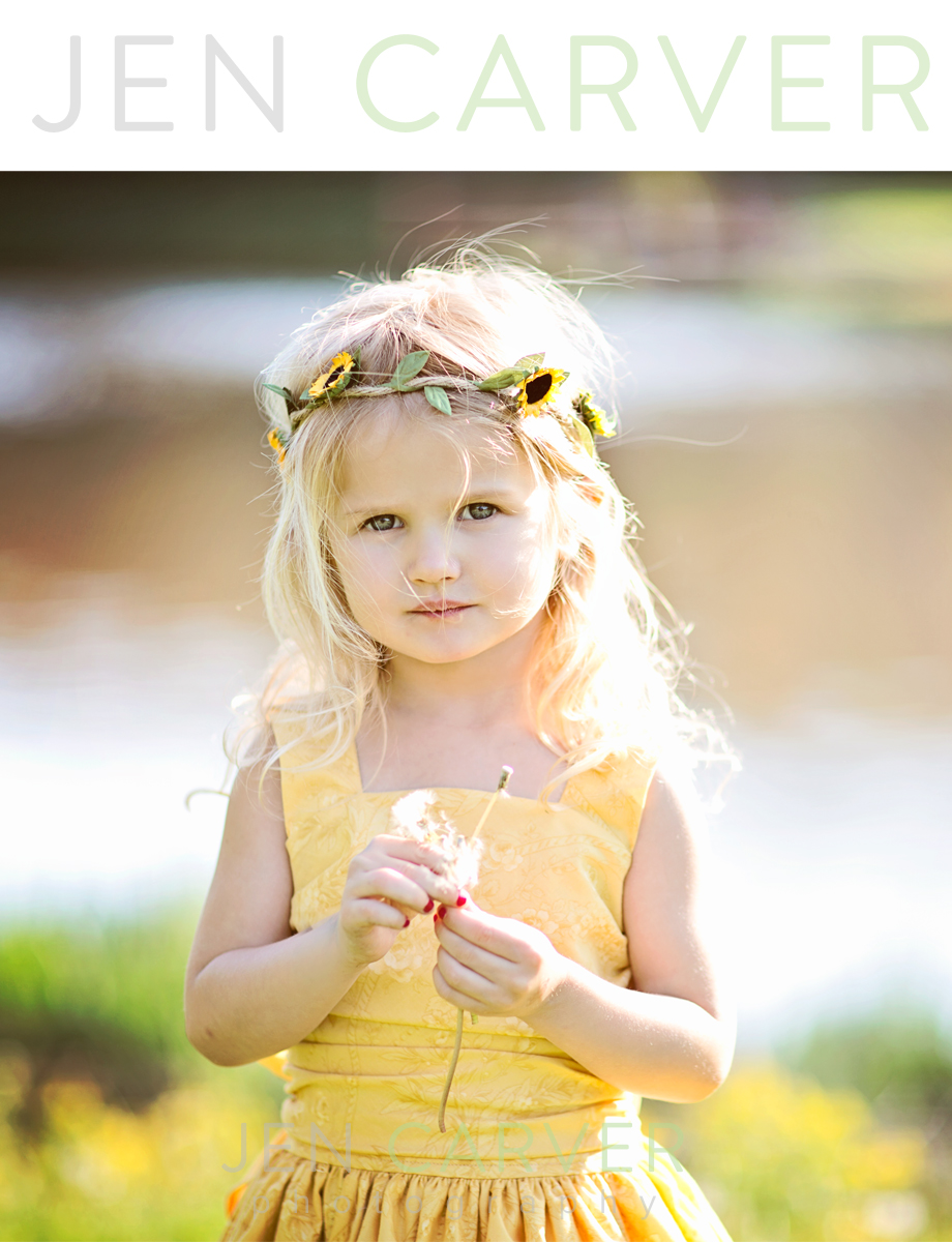 ella12 5 Dandelions and Willow Trees | Pittsburgh Child Photographer