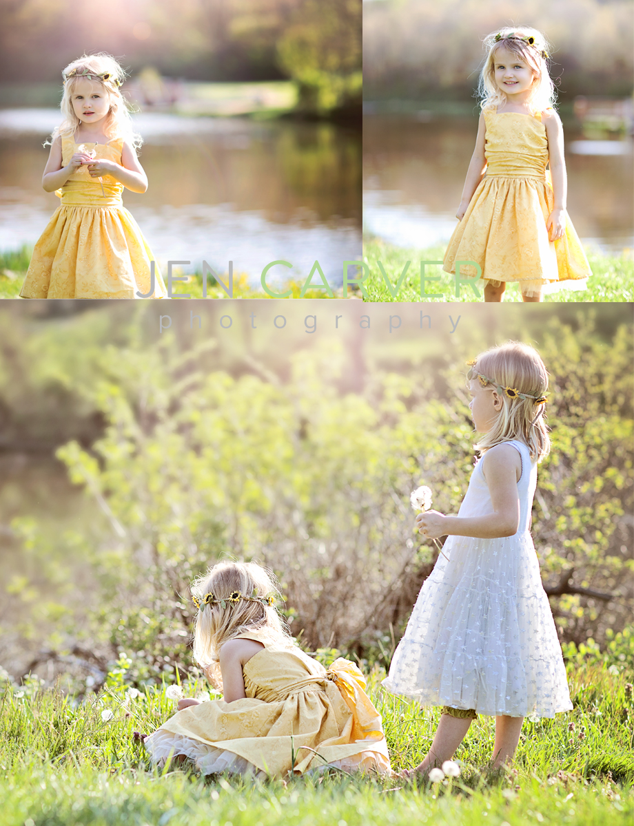 ella12 6 Dandelions and Willow Trees | Pittsburgh Child Photographer