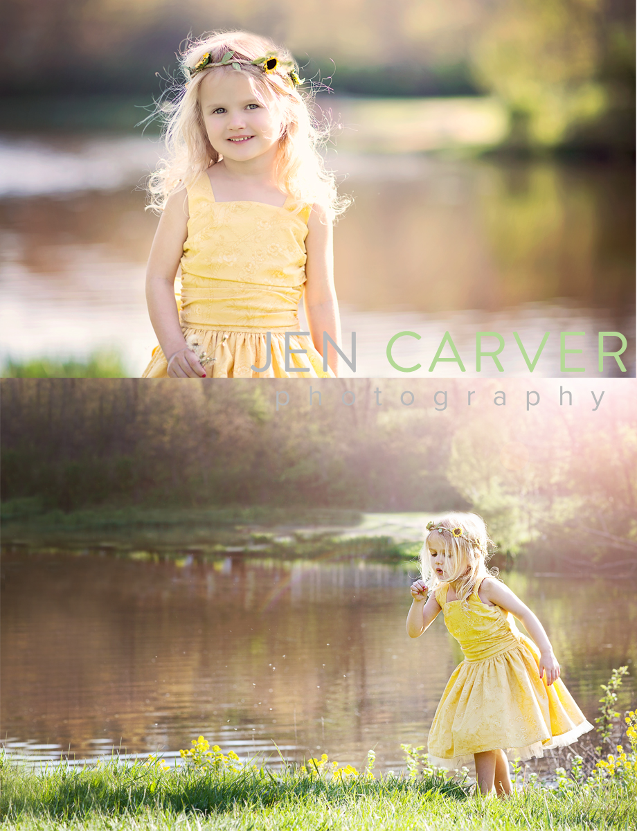 ella12 7 Dandelions and Willow Trees | Pittsburgh Child Photographer